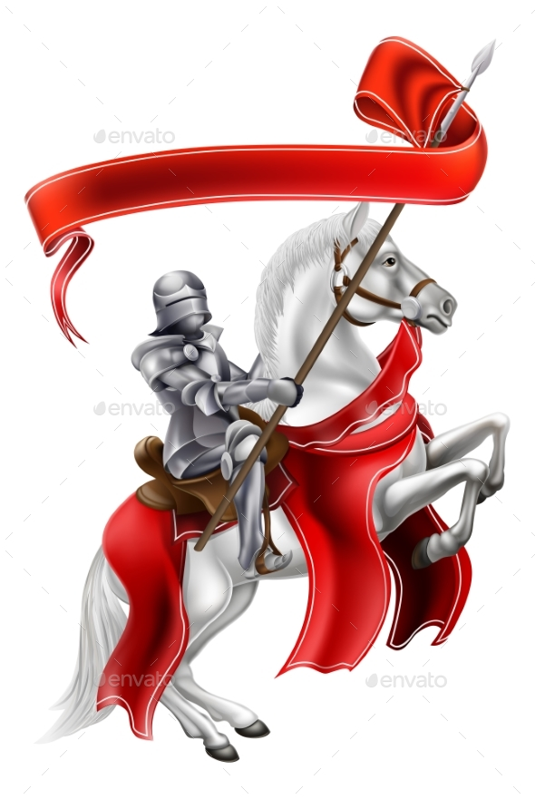 Medieval Banner Knight on Horse - Sports/Activity Conceptual