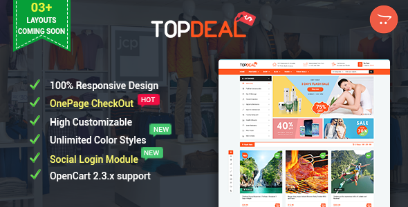 TopDeal – Advanced & Multipurpose OpenCart 2.3 Theme