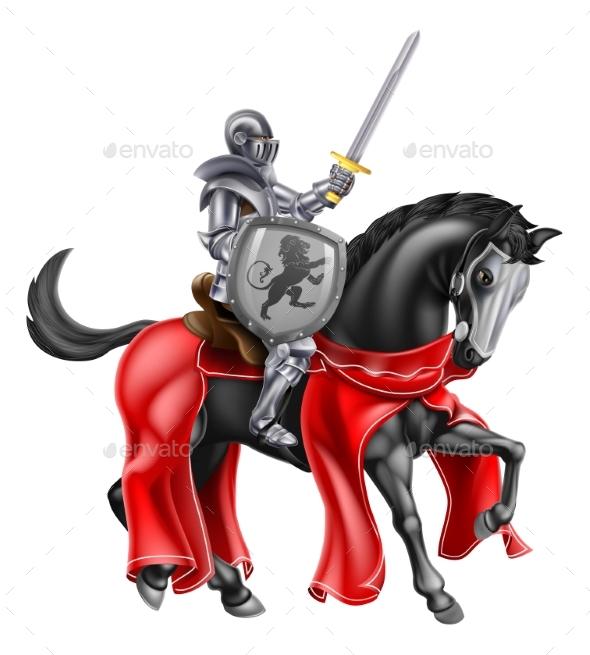 Knight Horse Shield Sword 2016 B1 - Buildings Objects