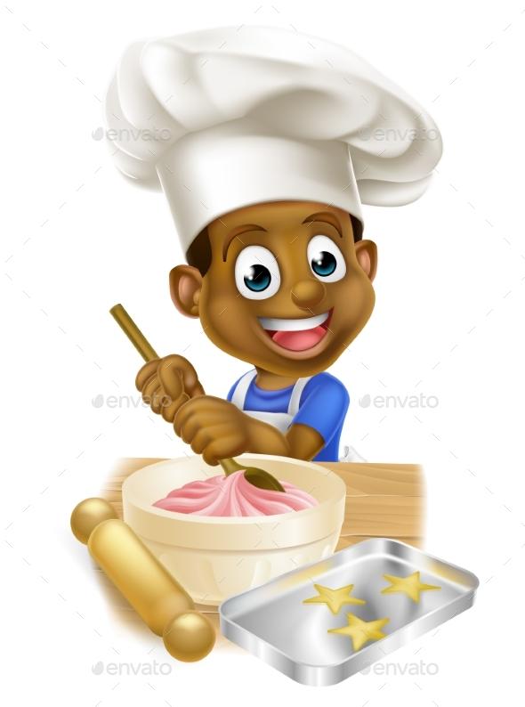 Cartoon Chef Boy - Miscellaneous Vectors