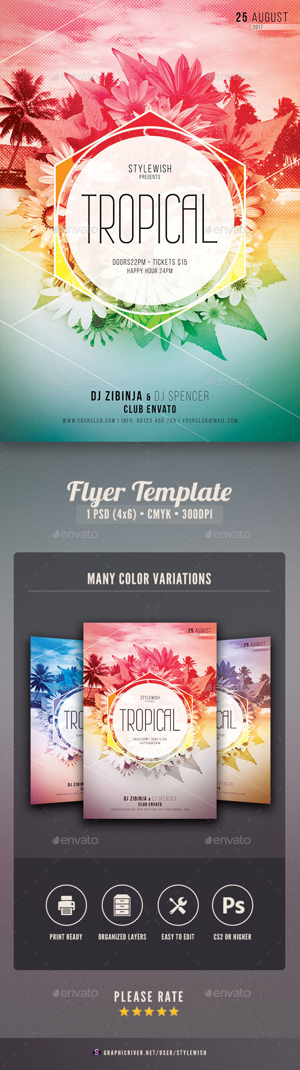 Tropical Flyer - Clubs & Parties Events