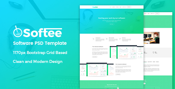 Softee – Software PSD Template