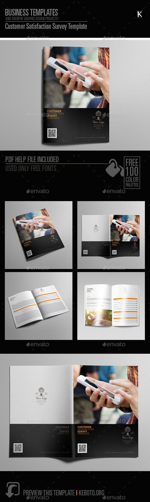 Customer Satisfaction Survey Template - Miscellaneous Print Templates