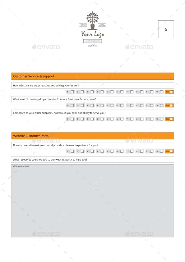 Customer Satisfaction Survey Template By Keboto  Graphicriver