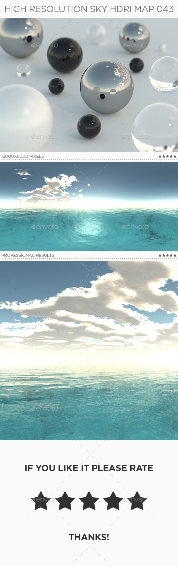 High Resolution Sky HDRi Map 043 - 3DOcean Item for Sale