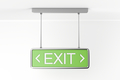 Emergency exit sign in the building - PhotoDune Item for Sale