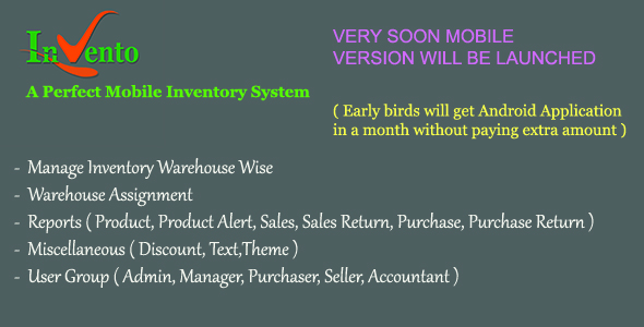 Invento - A perfect mobile inventory - CodeCanyon Item for Sale
