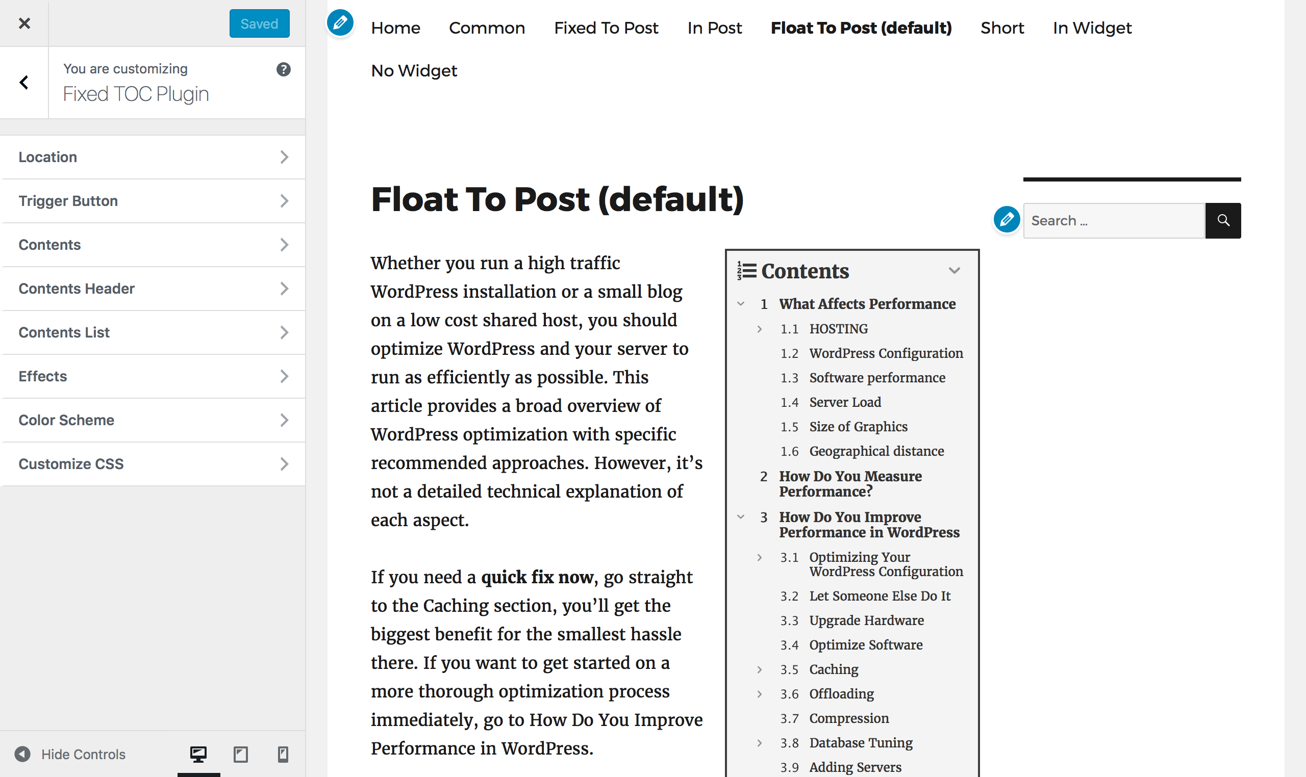 Fixed Toc Table Of Contents For Wordpress Plugin By Wphigh