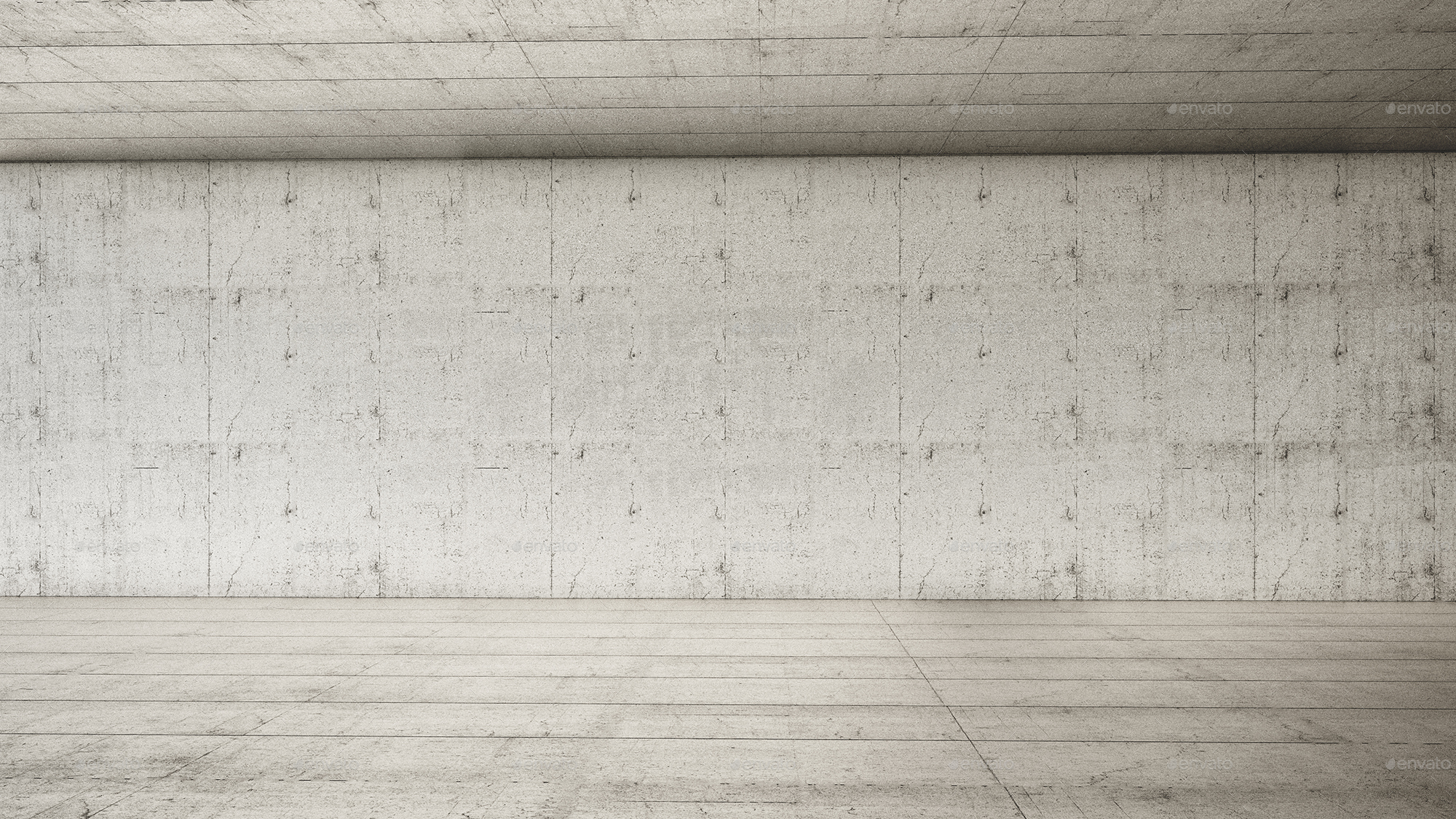 empty interior frontal concretearezio | graphicriver