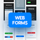Light and Dark Soft Material Web Forms - GraphicRiver Item for Sale