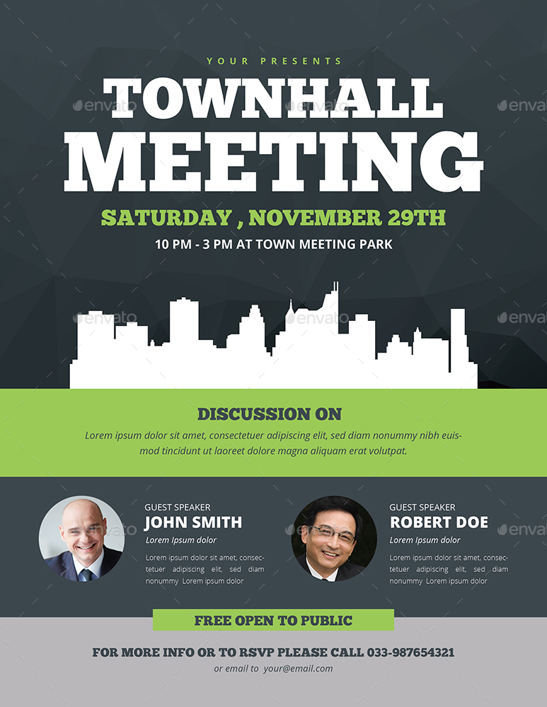 town hall meeting flyer by guuver graphicriver