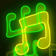 Music Notes Neon 2 - VideoHive Item for Sale