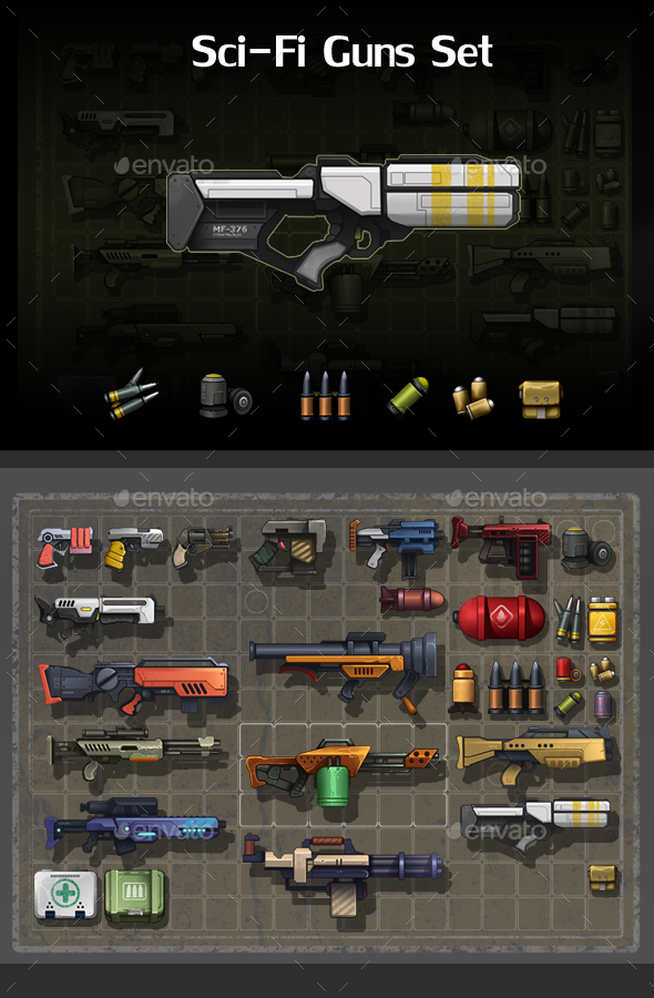Sci-Fi Guns Set - Miscellaneous Game Assets