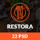 Restora - Restaurant PSD Template - ThemeForest Item for Sale