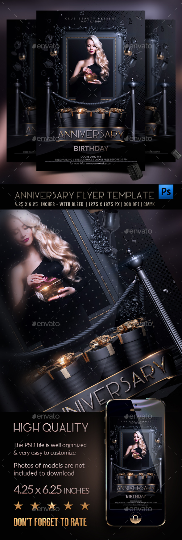 Anniversary Flyer Template - Events Flyers