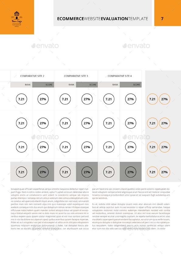 Ecommerce Website Evaluation Template by Keboto | GraphicRiver