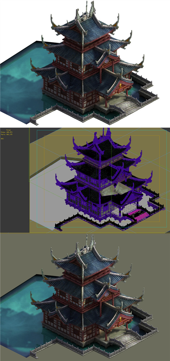 Game Model - Taoist comprehension scene - Zhenwu Temple 01 - 3DOcean Item for Sale
