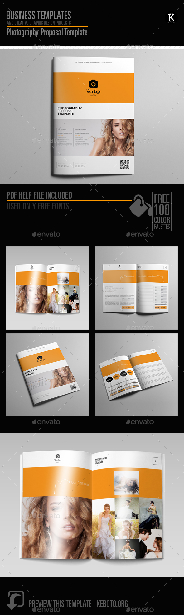 Photography Proposal Template - Proposals & Invoices Stationery