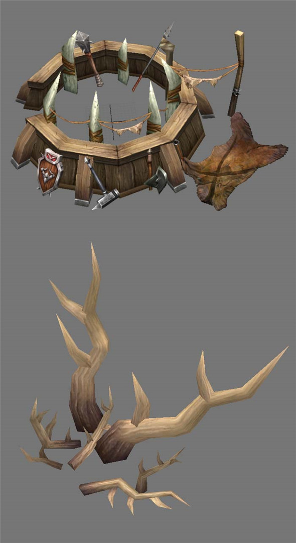 Game Model Arena - antlers  Weapon Rack 01 - 3DOcean Item for Sale