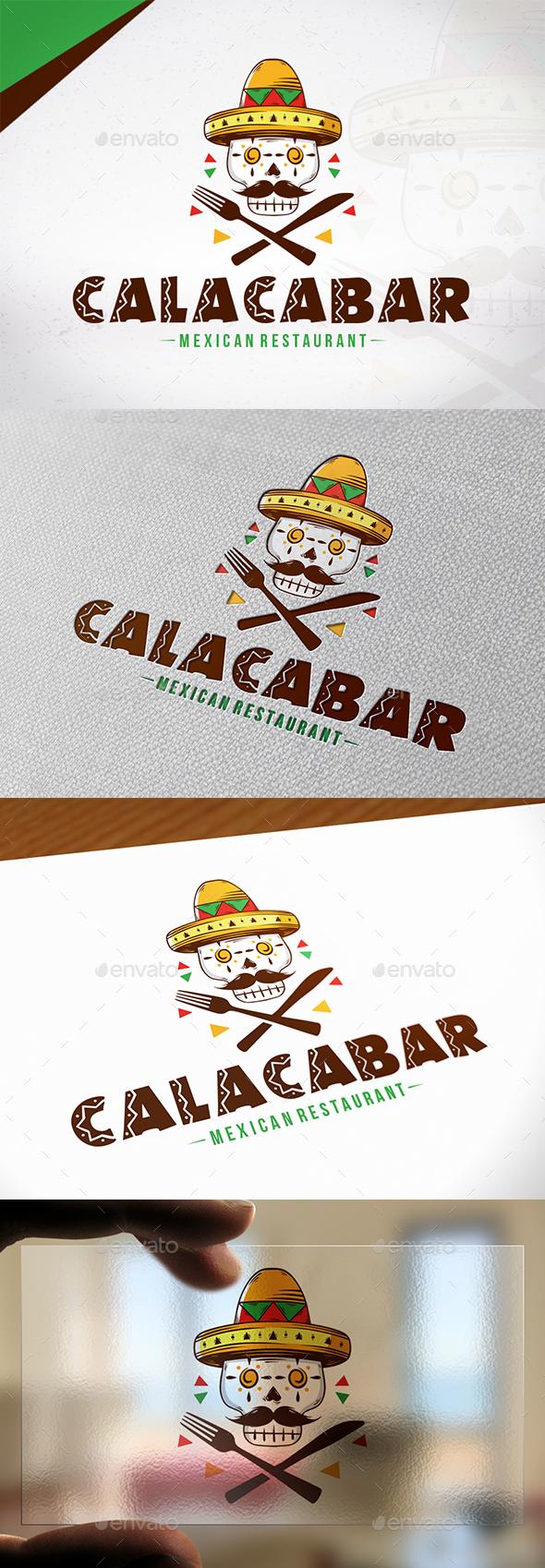 Calaca Bar Logo Template - Restaurant Logo Templates