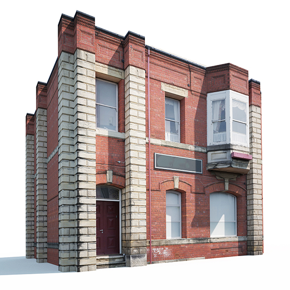 Apartment House #161 Low Poly - 3DOcean Item for Sale