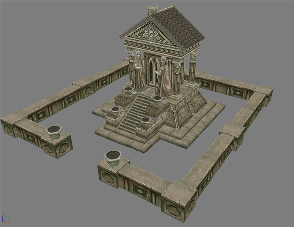 Game Model Arena - Ares temple 01 - 3DOcean Item for Sale