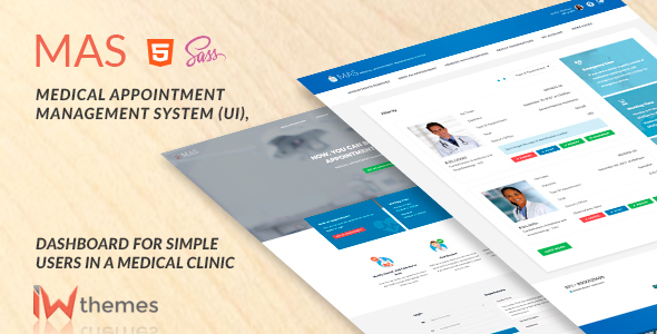 Medical Appointment Management System (UI),Dashboard for Simple User | Mas - Admin Templates Site Templates