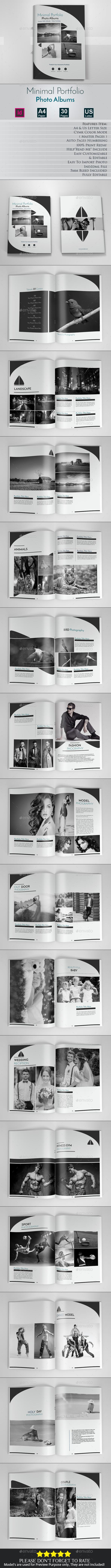 Minimal Portfolio Photo Albums - Photo Albums Print Templates