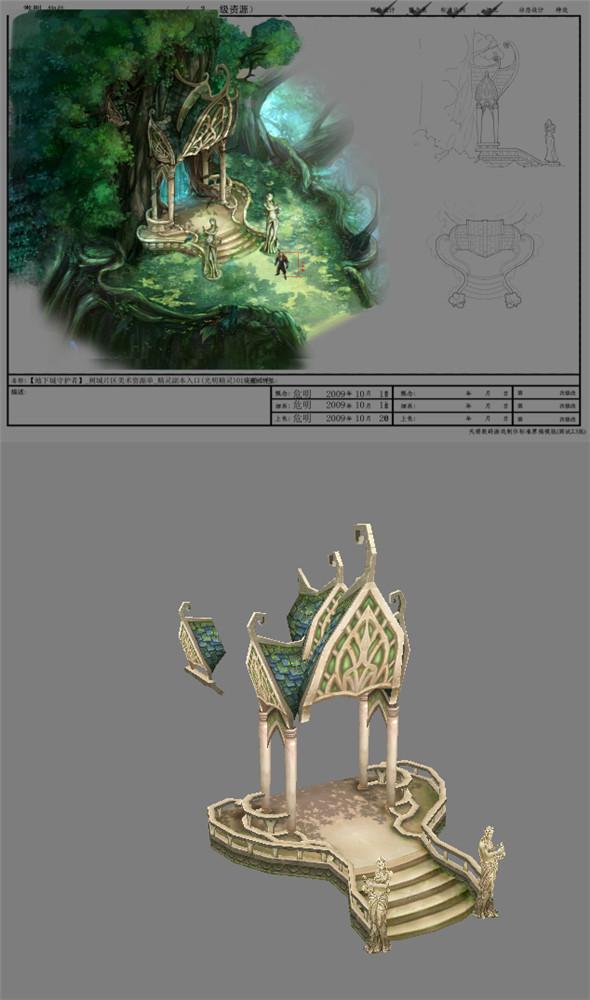 Game Model Arena - Boise - Elf copy of the entry  light elves 01 - 3DOcean Item for Sale