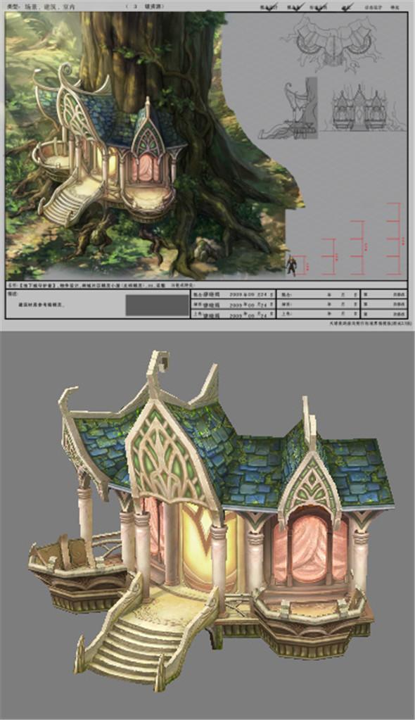 Game Model Arena - Boise - Elf Cottage  light elves  -03 01 - 3DOcean Item for Sale