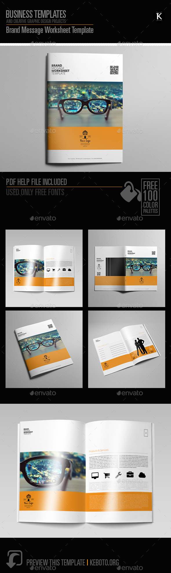 Brand Message Worksheet Template - Miscellaneous Print Templates