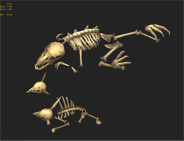 Game Model Arena - bone remains of animals 01 - 3DOcean Item for Sale