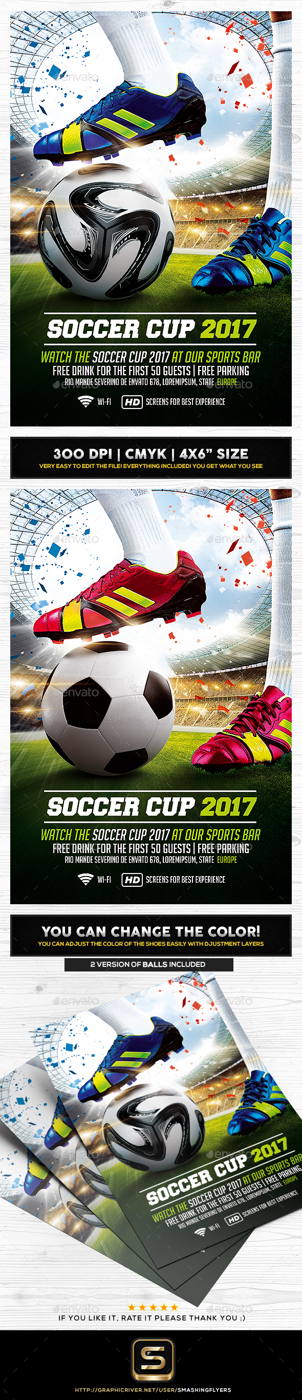 Soccer Cup Flyer Template - Sports Events