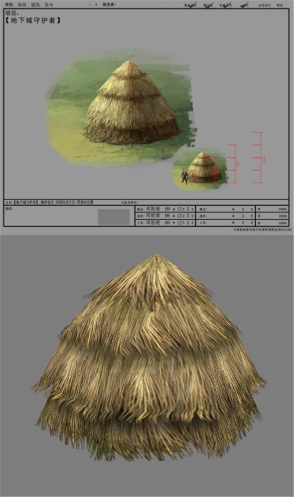Game Model Arena - bucolic - Haystack 01 01 - 3DOcean Item for Sale