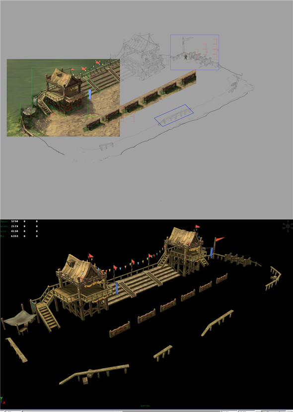 Game Model Arena - bucolic - Racecourse 01 - 3DOcean Item for Sale