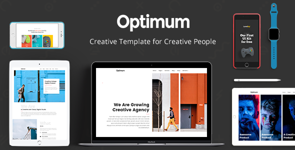 Optimum – Creative Template for Creative People