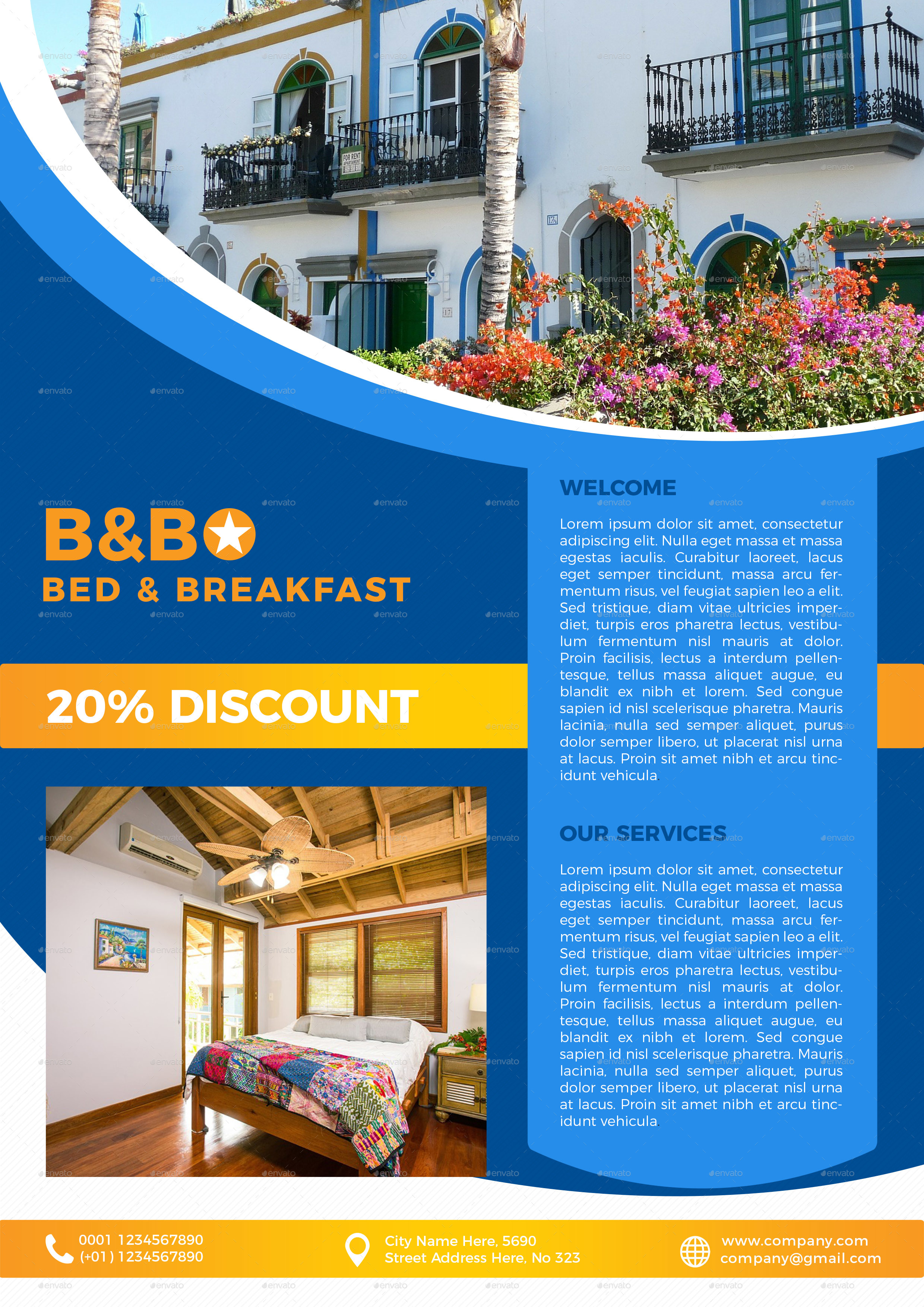Bb Bed Breakfast Flyer Template By Lapabrothers Graphicriver