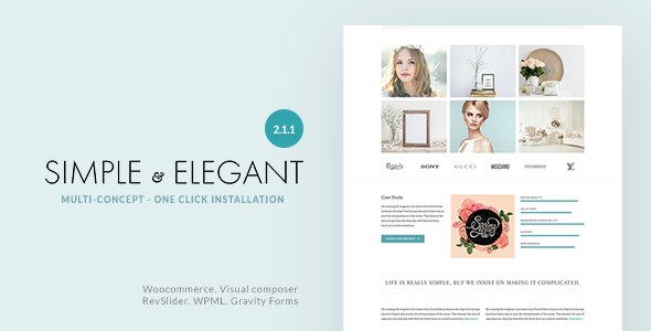 Simple & Elegant - Multi-Purpose WordPress Theme