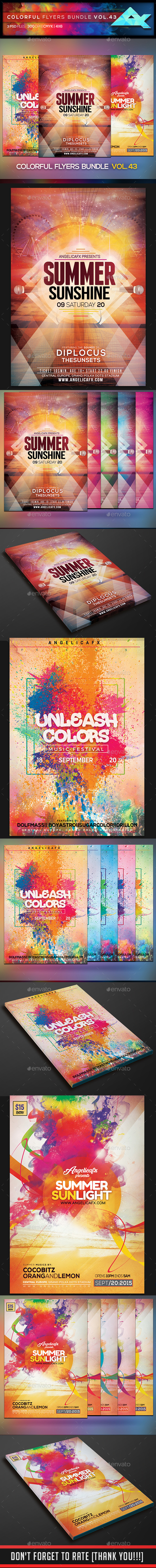 Colorful Flyers Bundle Vol. 43 - Flyers Print Templates
