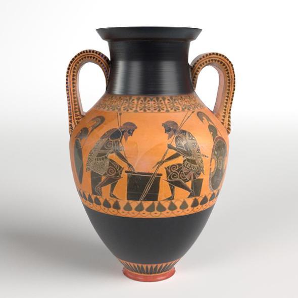 Two Handled Greek Jar Amphora Vase - 3DOcean Item for Sale