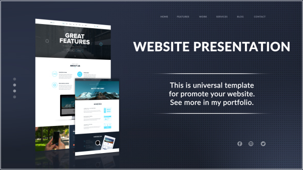 website presentation by imocean videohive