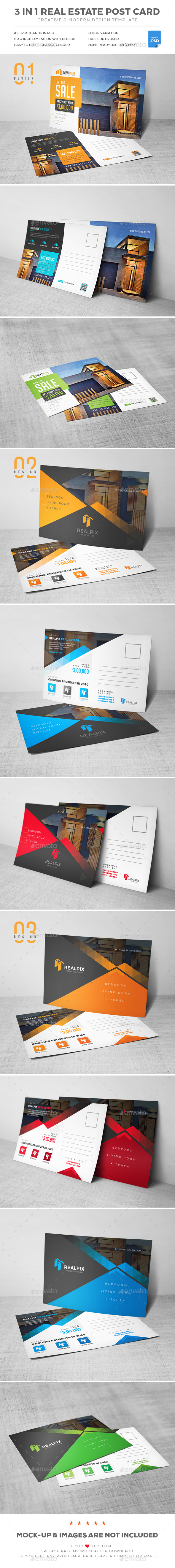 Postcard Bundle - Cards & Invites Print Templates