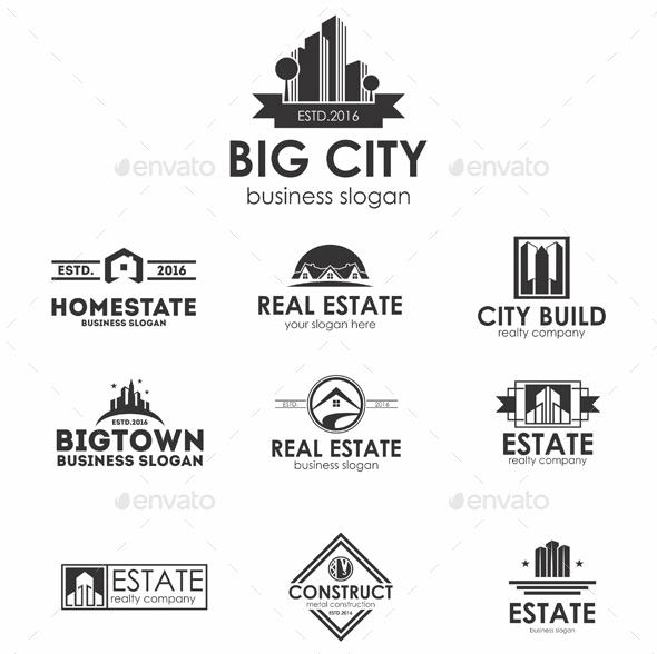 170 Logos Bundle – Real Estate, Music, Letters & Restaurants