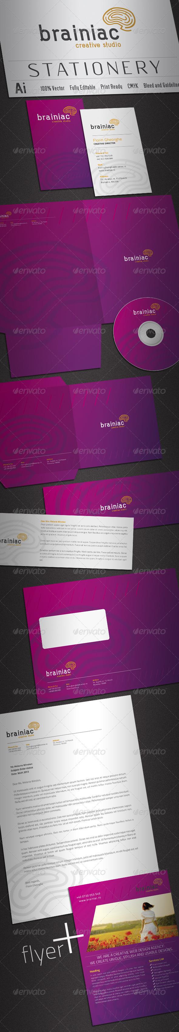 Brainiac Stationery - Stationery Print Templates