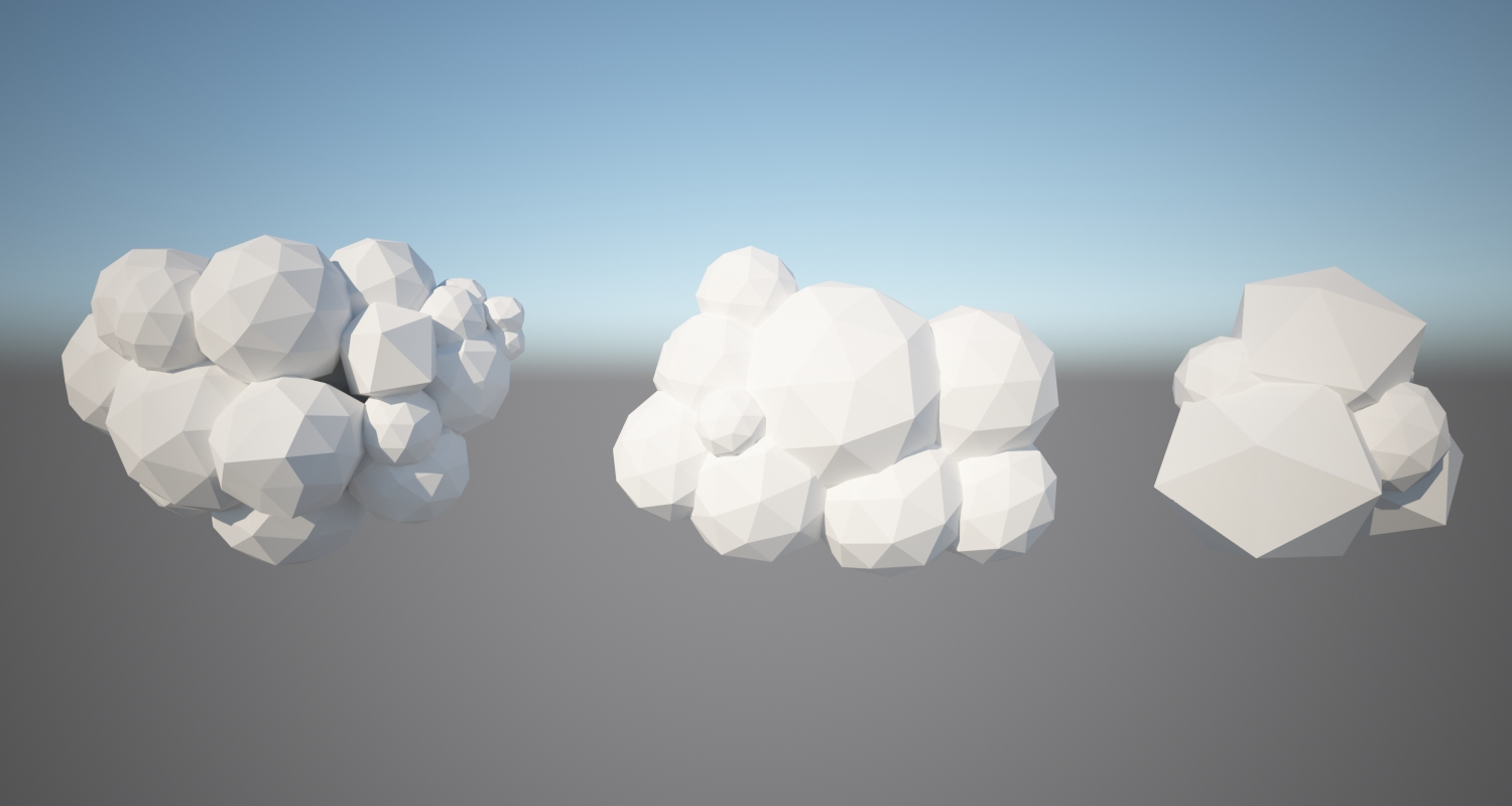 Low Poly Clouds Pack By Sariat 3docean