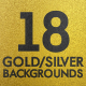 Pack 18 Gold Silver Backgrounds Loops - VideoHive Item for Sale