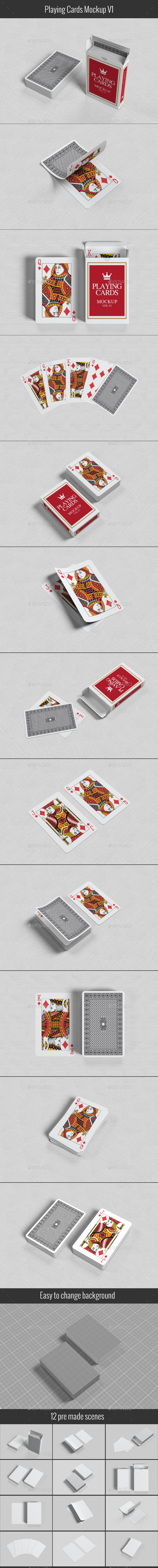 Playing Cards Mock-up V1 - Miscellaneous Print