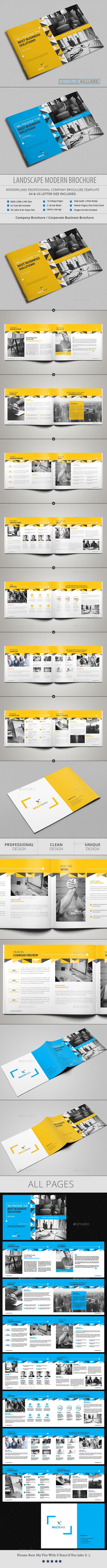 Landscape Modern Brochure - Brochures Print Templates