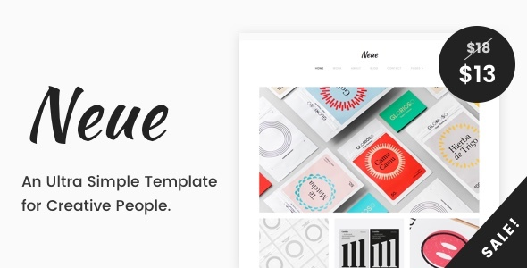 Neue – A Simple Template for Creative People