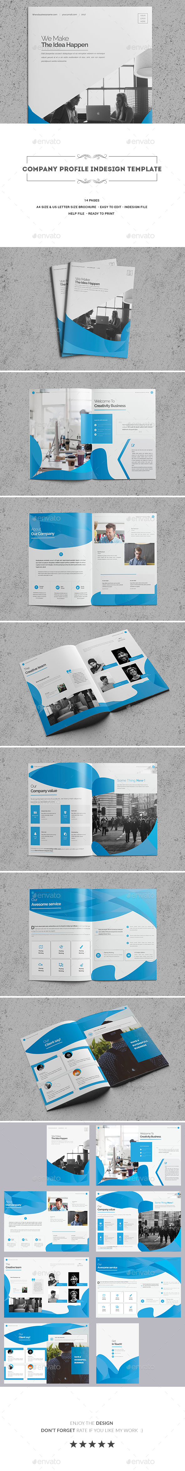 Company Profile InDesign Template - Corporate Brochures